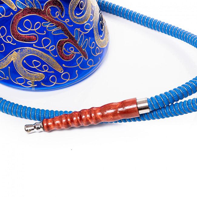 シーシャ(水タバコ) 青 【約82cm】 6 - 吸口の先端です