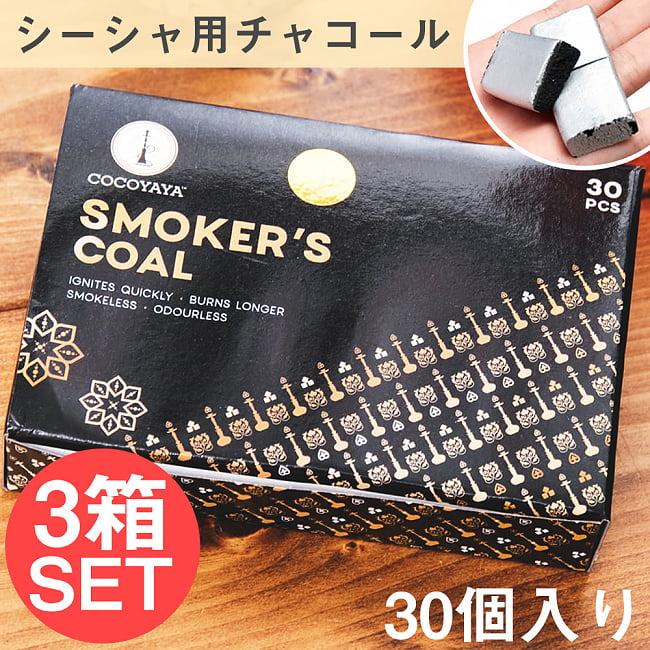 【3箱セット】シーシャの炭 シルバーチャコール - 30個入りの写真