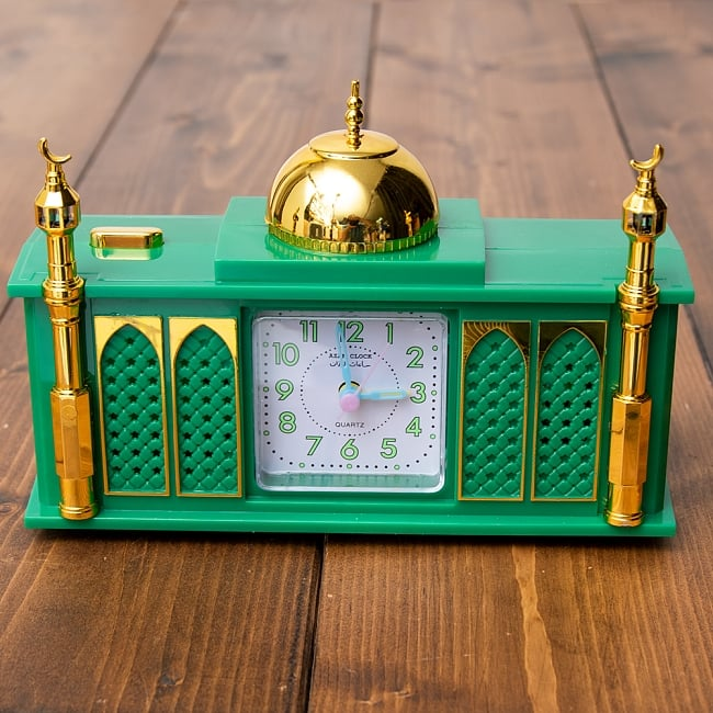 アザーン目覚まし時計−モスク-緑 3 - 正面から撮ってみました。
