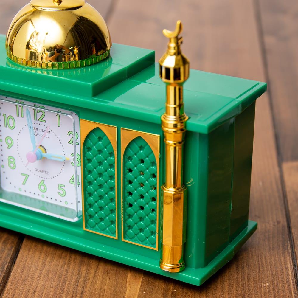 アザーン目覚まし時計−モスク-緑 4 - 角度を変えてみてみました