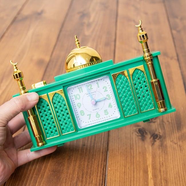 アザーン目覚まし時計−モスク-緑 6 - 手に取るとこれくらいの大きさです