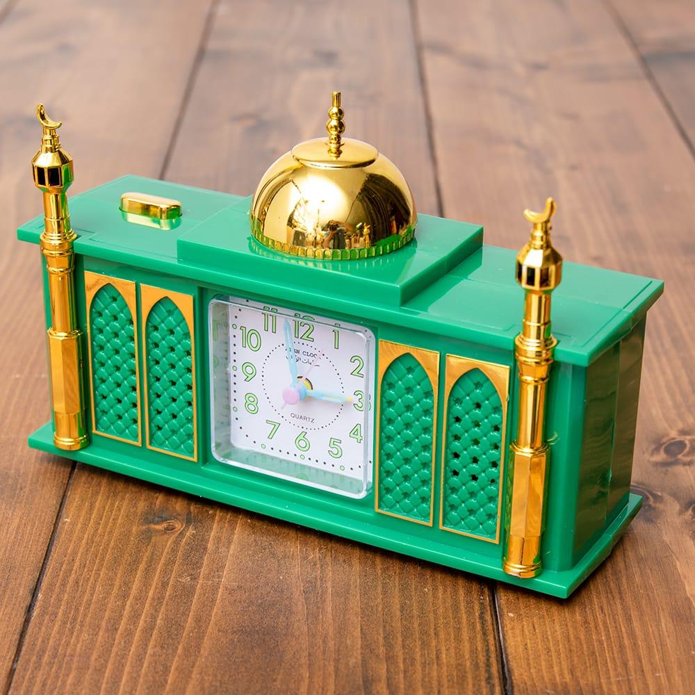 アザーン目覚まし時計−モスク-緑の写真