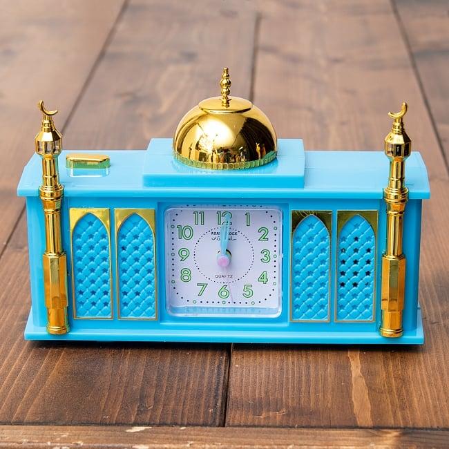 アザーン目覚まし時計−モスク-青 3 - 正面から撮ってみました。