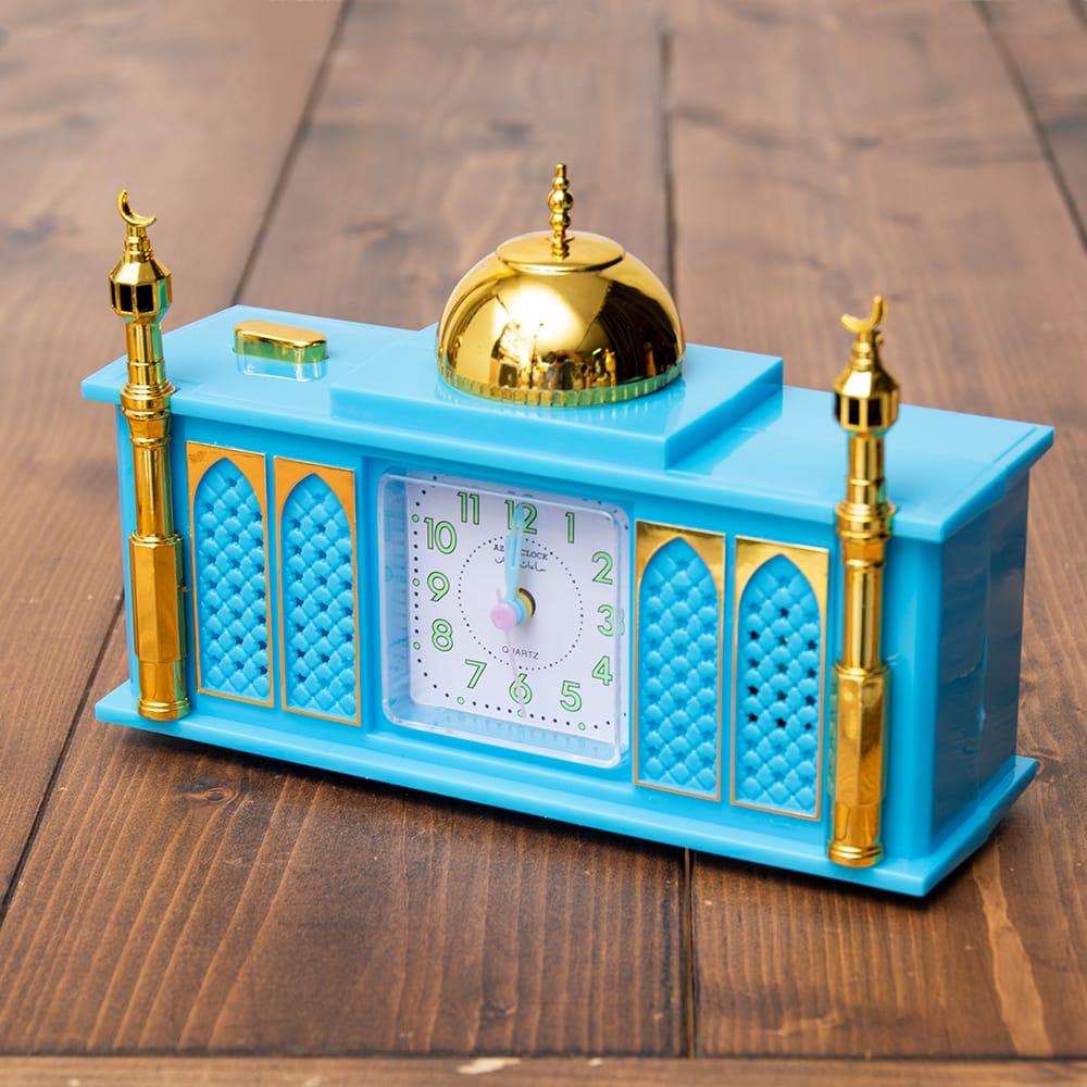 アザーン目覚まし時計−モスク-青の写真