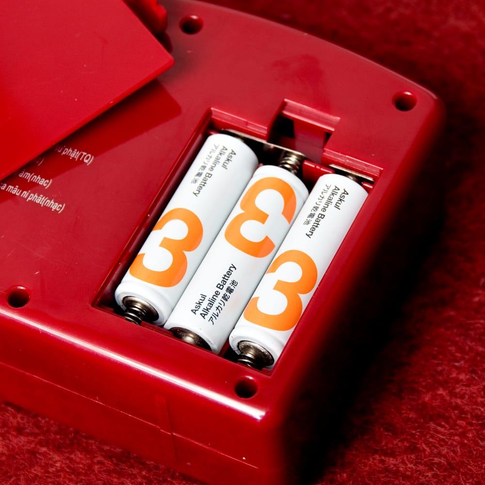 ブッダマシン どこでもいつでもお経が聞ける スピーカー内臓の自動読経機 9 - 単3電池3本で動くので、どこでも好きなところでお経が聞けます。(電池は付属いたしません。)