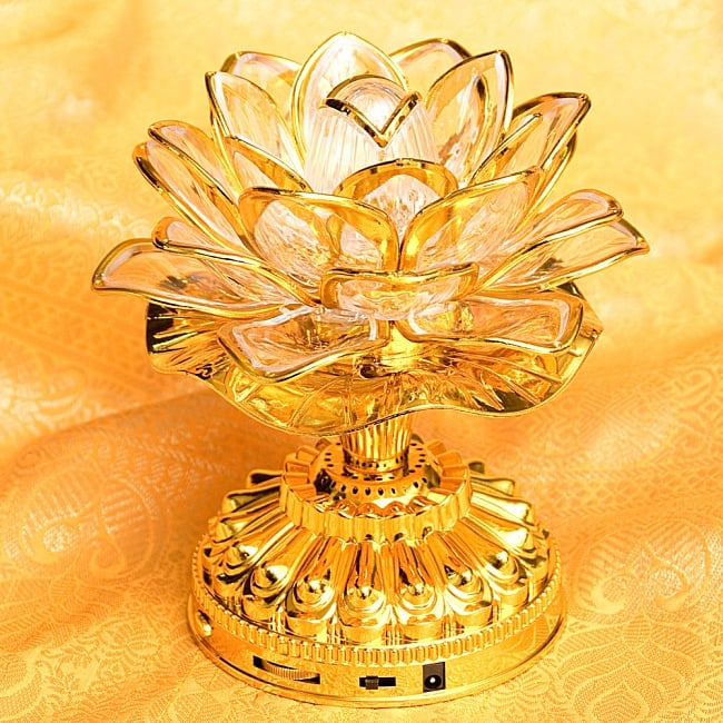 〔21曲収録〕光る金色のロータスブッダマシン どこでもいつでもお経が聞ける スピーカー内臓の自動読経機の写真