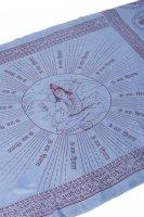 (200cmx100cm)座りシヴァのラムナミ 青灰