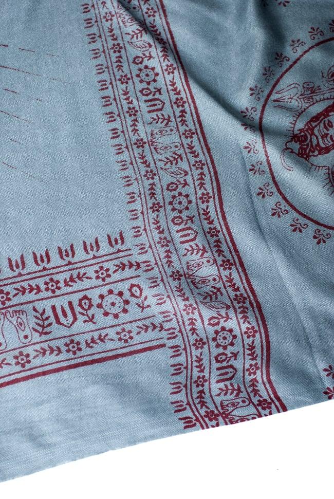 [200cmx100cm]座りシヴァのラムナミ グレーの写真4 - 文様部分の様子です。