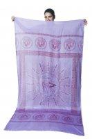 (200cmx100cm)座りシヴァのラムナミ 紫