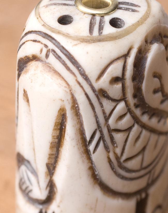 水牛の角で作ったゾウさんお香立て - クリーム 4 - おしりの部分です