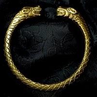 金属バングル-ライオンフェイス ウロコ柄