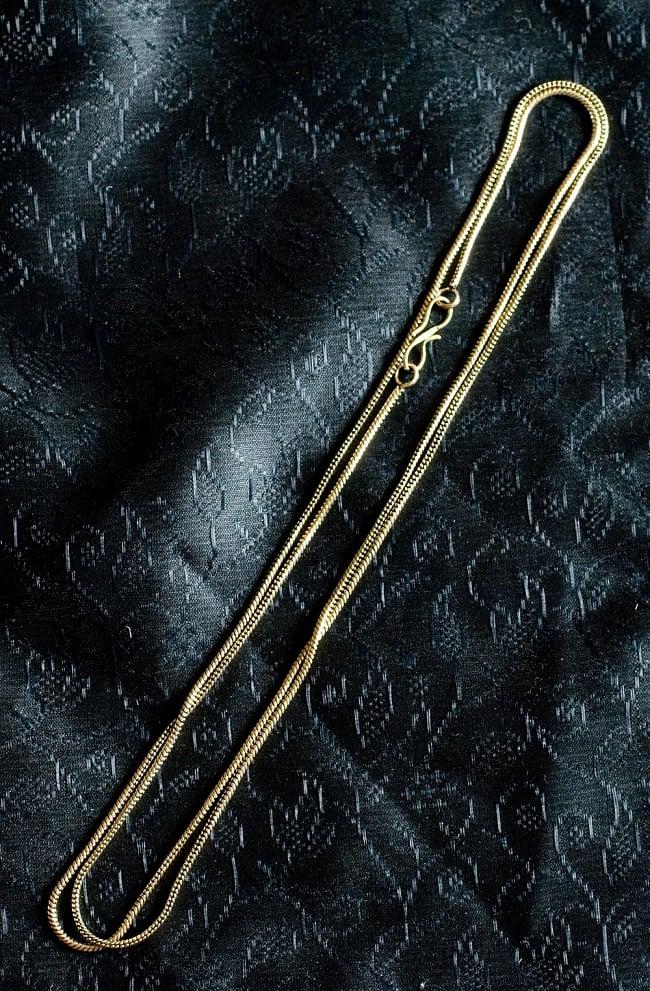 ペンダントトップ用チェーン(長さ78cm)の写真5 - ゴールドです。