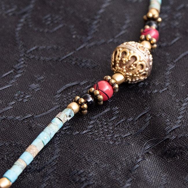 インドのストーンネックレス【フェザー】 3 - 上品にさりげなくエスニックさを感じさせてくれます!