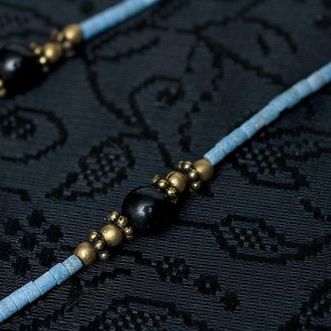 インドのストーンネックレス・シンプル【フェザー】 3 - 上品にさりげなくエスニックさを感じさせてくれます!