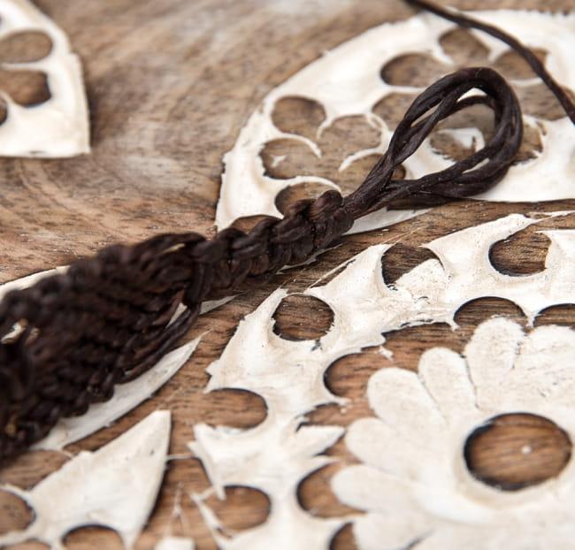 シンプル マクラメ編みブレスレット 4 - 留め具の部分です
