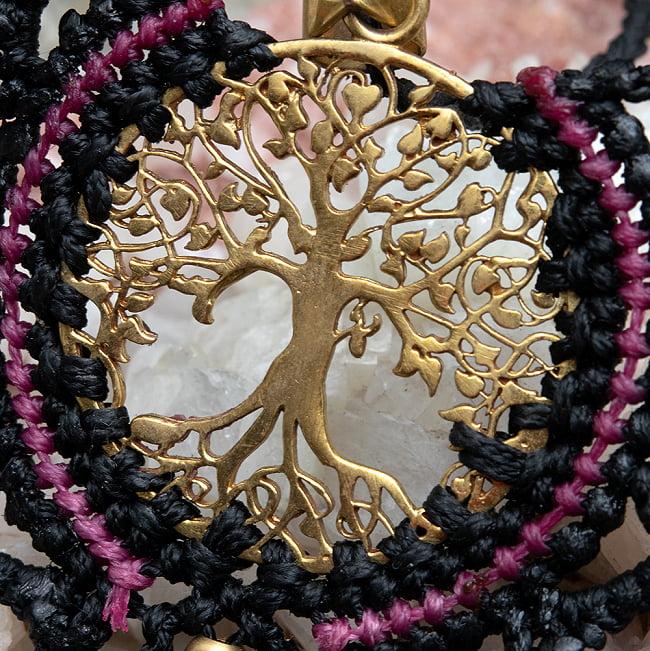 生命の木 Tree of Life のマクラメ ネックレス 3 - アップにしました