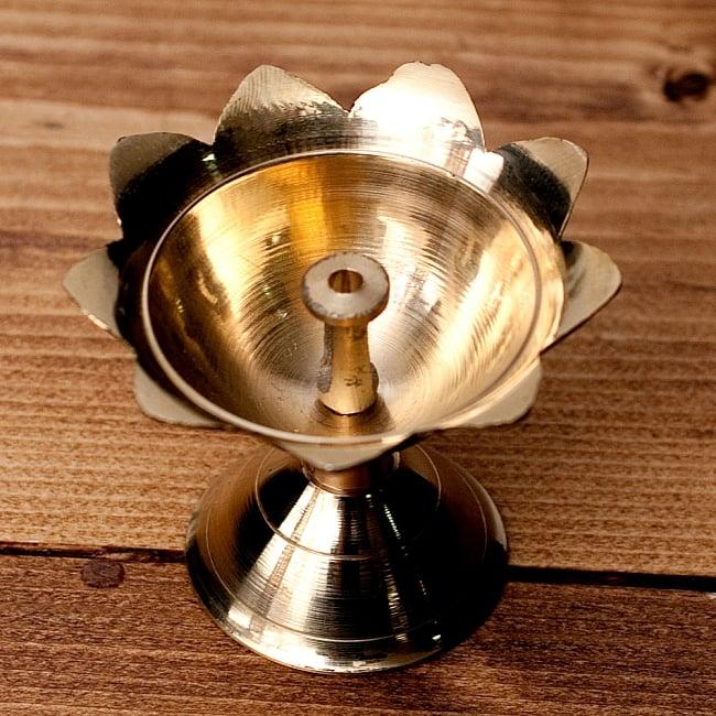 蓮型オイルランプ&香立て(5.4cm)の写真