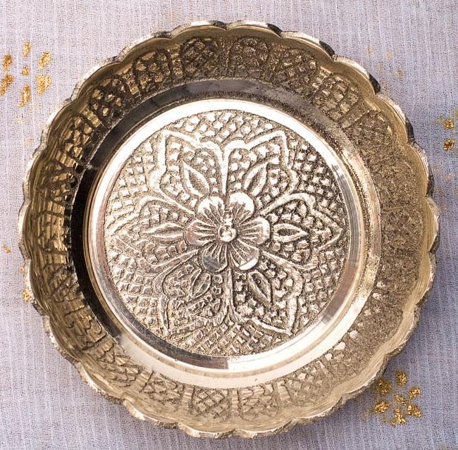 インド風水のプレート(kachwa plate) - 約7cm 2 - 美しい紋様の施された皿