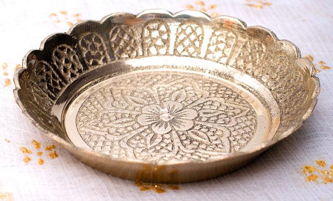 インド風水のプレート(kachwa plate) - 約7cm 3 - 斜め上の角度から