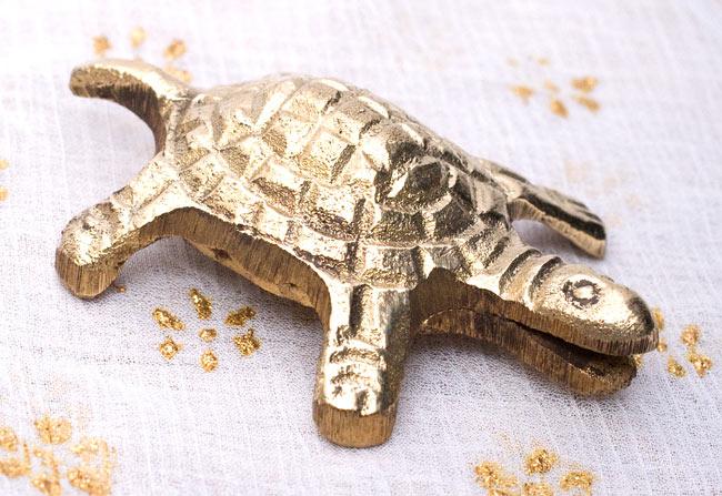 インド風水のプレート(kachwa plate) - 約7cm 4 - 亀には口の部分に切り込みが入っています。