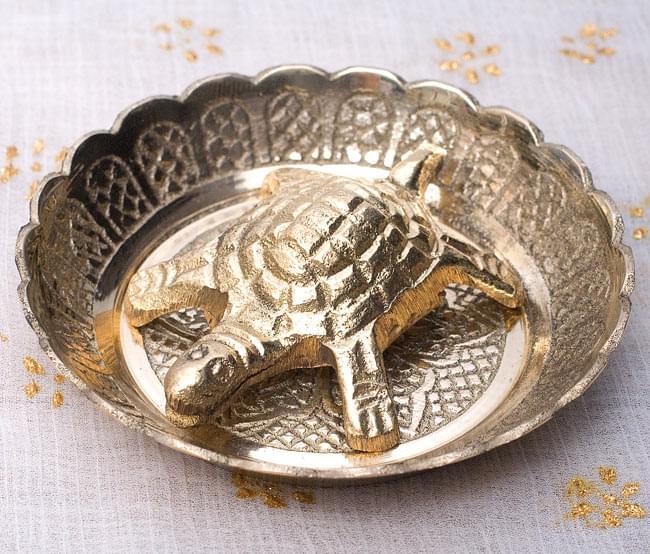 インド風水のプレート(kachwa plate) - 約7cmの写真