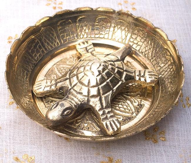インド風水のプレート(kachwa plate) - 約8cmの写真