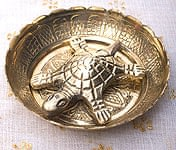 インド風水のプレート(kachwa plate) - 約7.5cm