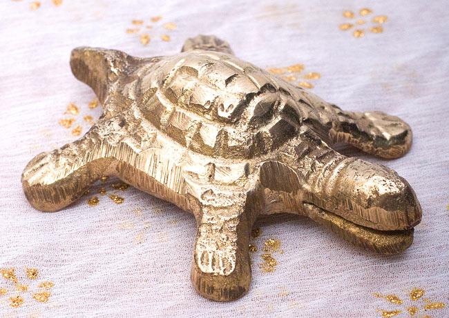 インド風水のプレート(kachwa plate) - 約10cm 4 - 亀には口の部分に切り込みが入っています。