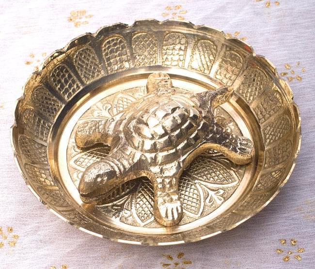 インド風水のプレート(kachwa plate) - 約10cmの写真