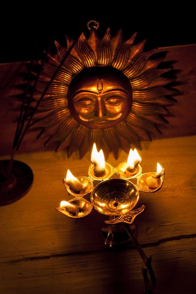 5口のオイルランプ&香立て(大) 7 - 礼拝や、お部屋の雰囲気作りにお役立てください。