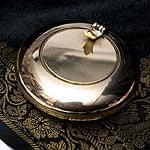 ブラスの円形灰皿[8.5cm]