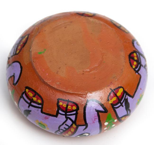 ミティラー村の陶器の灰皿 - 紫 4 - 裏面です
