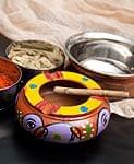 ミティラー村の陶器の灰皿 - 紫の商品写真
