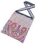 カッチ刺繍のショルダーバッグ