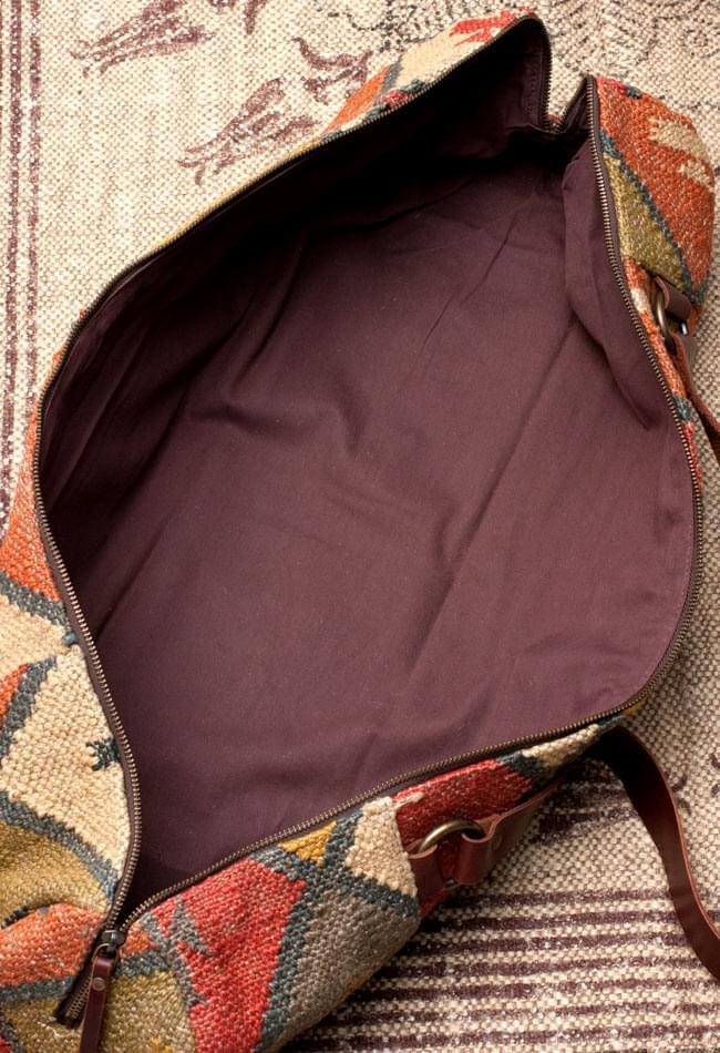 〔一点もの〕伝統を紡いだ インドキリムのヨガマットバッグ 11 - 広げてみたところです