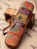 【一点物】伝統を紡いだ インドキリムのヨガマットバッグ