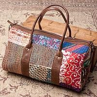 【一点物】伝統を紡いだ ラリーキルトのボストンバッグ