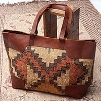 【一点物】伝統を紡いだ インドキリムのトラベルバッグ