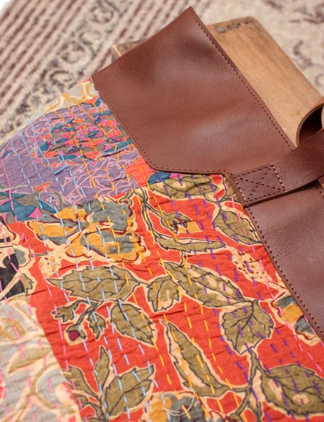 〔一点物〕伝統を紡いだ ラリーキルトのトラベルバッグ 4 - 拡大写真です