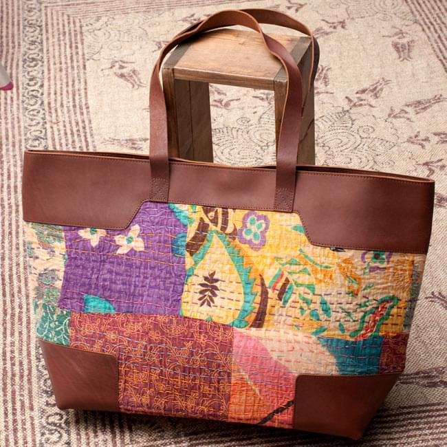 〔一点物〕伝統を紡いだ ラリーキルトのトラベルバッグの写真