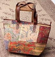 【一点物】伝統を紡いだ ラリーキルトのトートバッグ