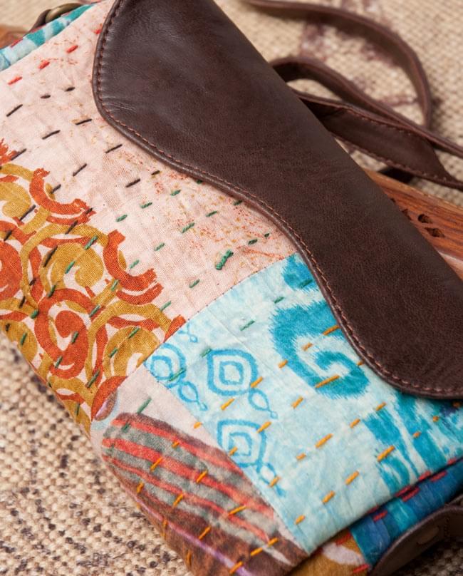 〔一点物〕伝統を紡いだ ラリーキルトのポーチウォレット 4 - 拡大写真です
