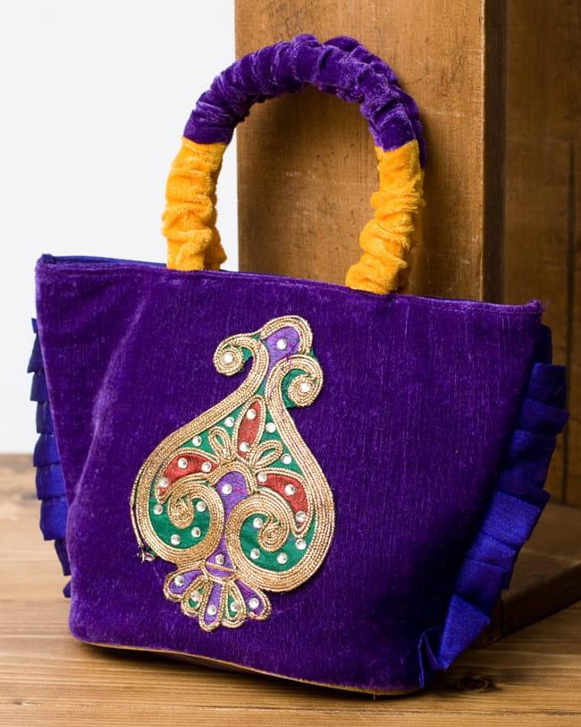 インドのゴージャスハンドバッグ - ワンポイントペイズリーの写真