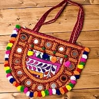 【1点物】カッチ刺繍のショルダーバッグ