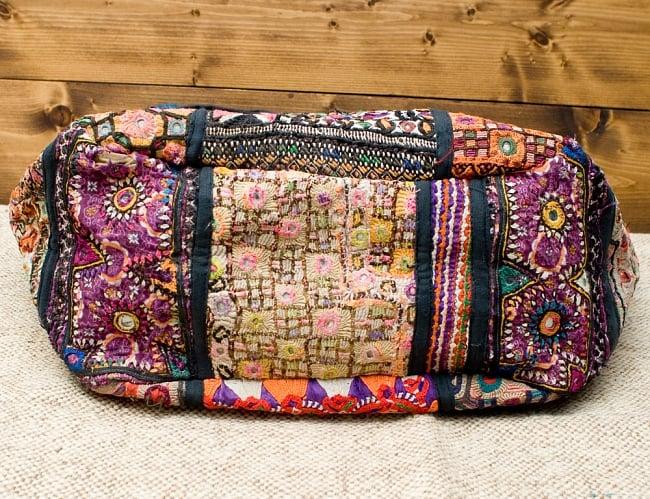 【一点物・アンティーク】アフガニトートバッグ-Lサイズ 10 - 底はこの様になっています