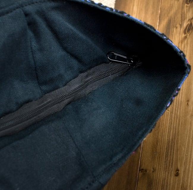 【一点物・アンティーク】アフガニトートバッグ-Lサイズ 12 - ジップ式なので安心です
