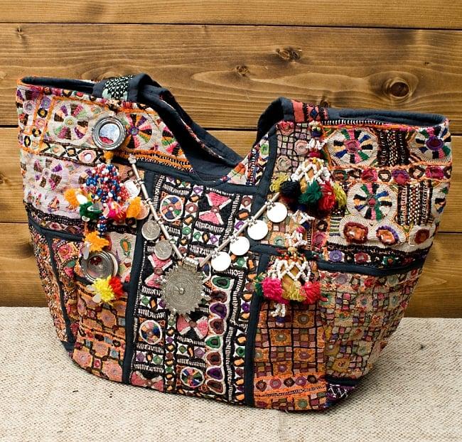 【一点物・アンティーク】アフガニトートバッグ-Lサイズの写真