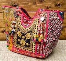 【一点物・アンティーク】アフガニトートバッグ-Lサイズ