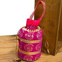 インドのきらきらミニバッグ — ピンク