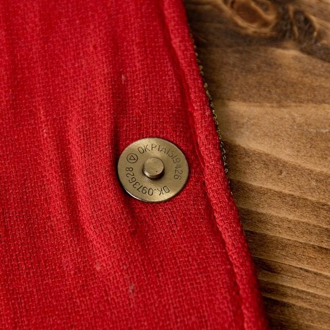 【一点物】アフガニクラッチバッグ-Lサイズ 6 - バッグの留口はマグネットボタンでしっかりと締まります。